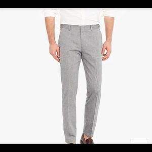 J Crew Ludlow Italian Slim Suit Pants/cotton-linen